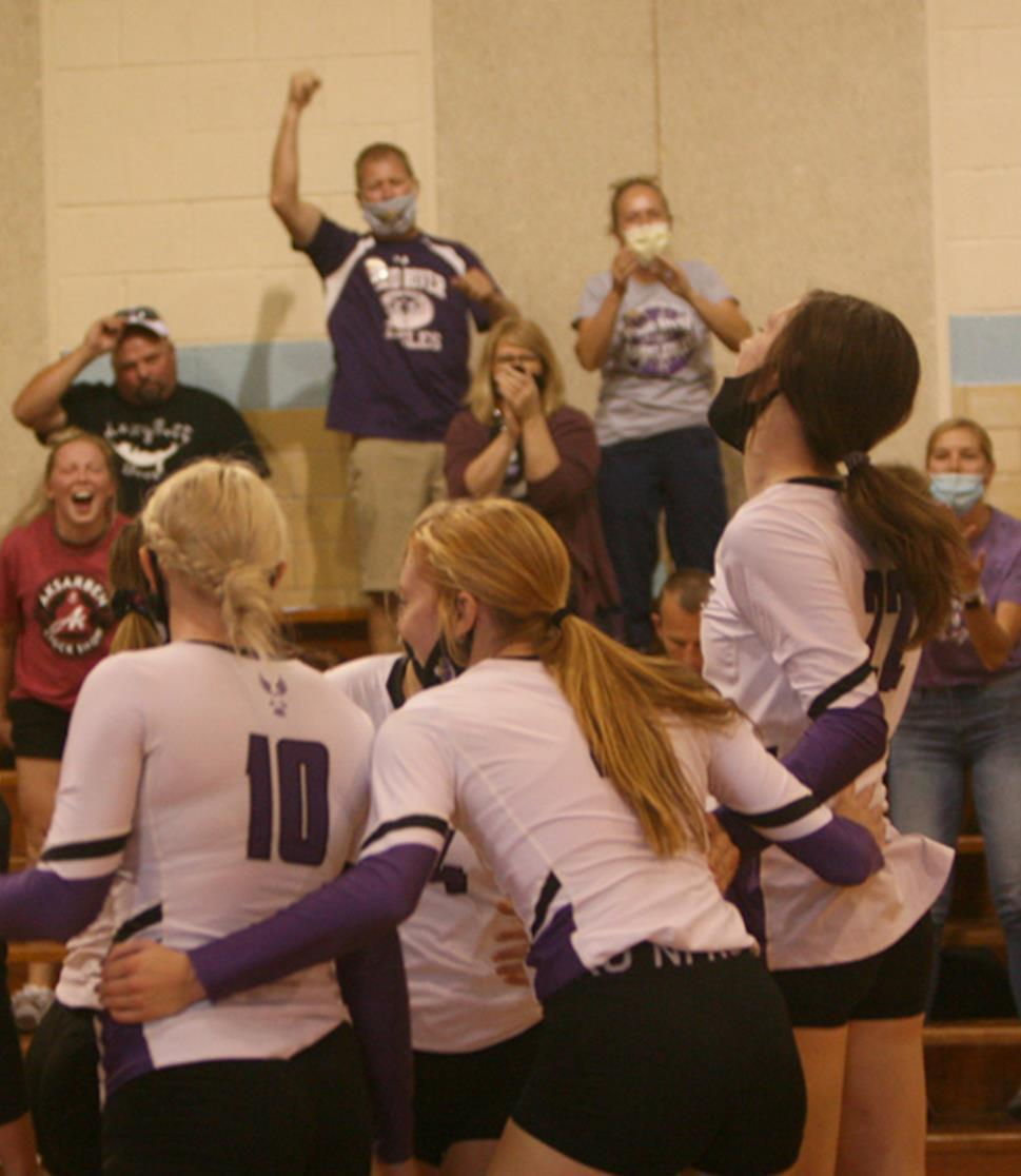 An Eagle win on the volleyball court is easy to detect simply by reading faces and body language of, not only the players, but those in the stands in the background. Wood River's Lady Eagles have given a large number of such moments during this season.