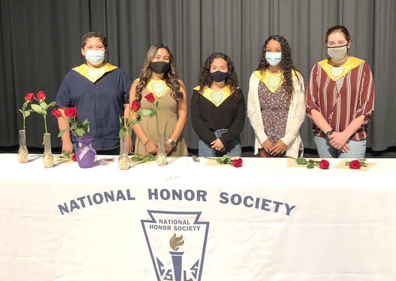 New members of the Gibbon National Honor Society who were recently inducted are, left to right, Hernan Vargus, Gelsy Rivas, Raquel Martinez, Hadleigh Davis and Ryley Ingram. Not pictured is Jiromi Corona. (–courtesy photo)