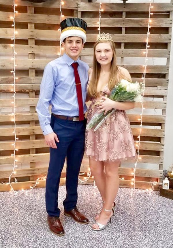 2019 Winter Ball king José Trejo and queen Hope Cronk.