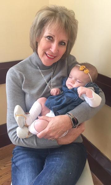 Grandma Susie Sochor and baby Joalie Sochor.