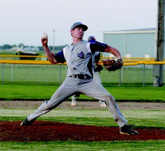 Camden Thompson struck out 16 of the 25 batters he faced and helped his own cause with an RBI double in the win over Ravenna. (—photo by Lynn McBride)