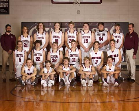 Front row, left to right, Tyler Myers, Bryce Gorecki, Eli Wooden, Tanner Simdorn, and Kyler Kosmicki; middle row, Ben Noakes, Tate Trumler, Spencer Meyer, Kolby Gorecki, Nick Kortz, and Riley Nielsen; and back row, assistant coach Thomas Yoachim, Noah Wooden, Tyler Ruhl, Ben Oman, Trent Rasmussen, Joe Carey, Justin Bredthauer, Troy Rasmussen, and head coach Dave Oman. Not pictured is Juan Perez.