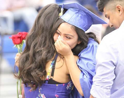 A sometimes emotional ceremony was held at Gibbon High School last Saturday afternoon as the Class of 2019 received their diplomas and honored family members with flowers during the ceremony. (–photo by Steve Glenn)