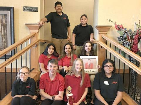 Members of the Gibbon Junior/Senior High FCCLA Chapter who attended the FCCLA State Peer Education Conference held in Kearney on February 25 were, front row, left to right, Sydney Elliott, Brayden Behrendt, Ashlyn Dealey, and Daniela Corona; middle row, Yessenia Raymundo, Bridget Ramirez, and Miracle Kenkel; and back row, Ray Alvarenga, and Hernan Vargas. (–courtesy photo)