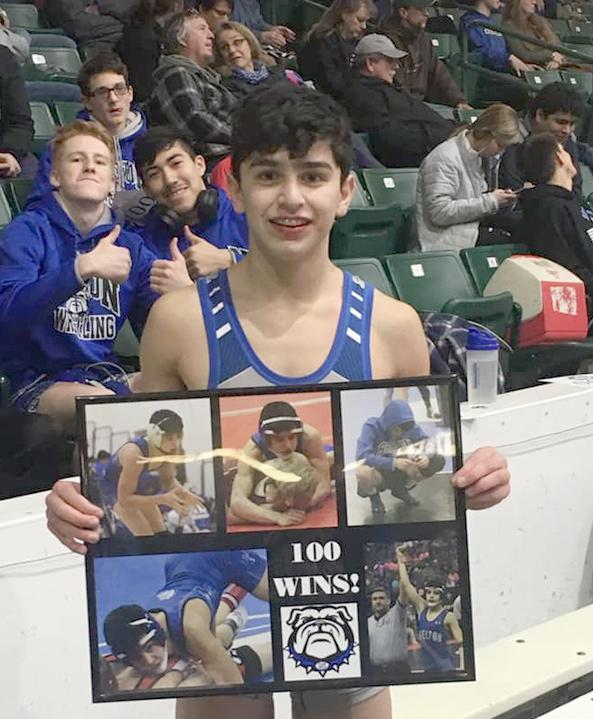 In fitting fashion, Shelton 106 pounder Jesse Sauceda won his 100th wrestling match during the championship match of the TVC/FKC Conference Tournament.