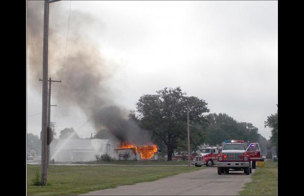 SVFD holds practice burn Saturday morning