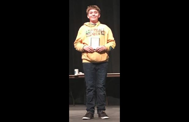 Evans aces county spelling bee