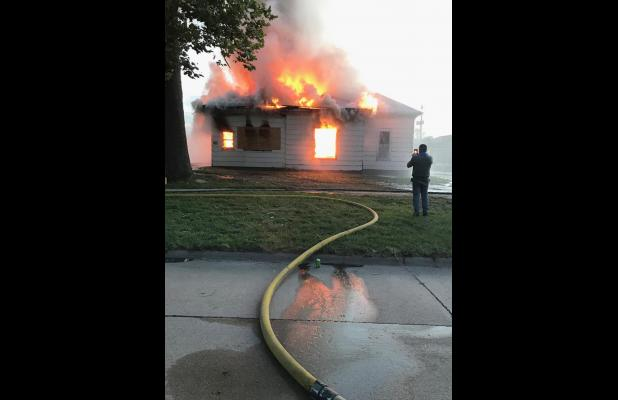 Cairo, Boelus, and Dannebrog fire departments combine for training