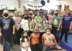 """WR Elementary students """"trick 'n treat"""" library for pantry"""